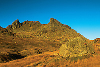 The Cobbler and the Narnain Boulders at dawn, the Arrochar Alps, Loch Lomond and the Trossachs National Park, Argyll & Bute
