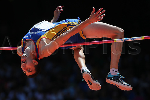 28.08.2015. Birds Nest Stadium, Beijing, China.  Mohai Donisan of Romania competes at the High Jump Qualification at the 15th International Association of Athletics Federations (IAAF) Athletics World Championships in Beijing, China, 28 August 2015.