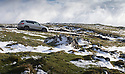 02/03/17<br /> <br /> A car makes its way down a steep lane near Longnor after overnight snowfall  in the Derbyshire Peak District.  <br /> <br /> All Rights Reserved F Stop Press Ltd. (0)1773 550665 www.fstoppress.com