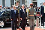 Palestinian President Mahmoud Abbas (Abu Mazen) meets with austrian President Heinz Fischer in Vienna in Germany, on Apr. 29, 2013. Photo by Thaer Ganaim