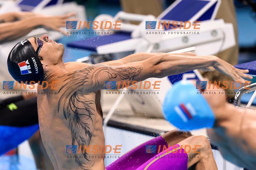 LACOURT Camille FRA Men's 100m Backstroke <br /> Rio de Janeiro 08-08-2016 Olympic Aquatics Stadium <br /> Swimming Nuoto <br /> Foto Andrea Staccioli/Deepbluemedia/Insidefoto