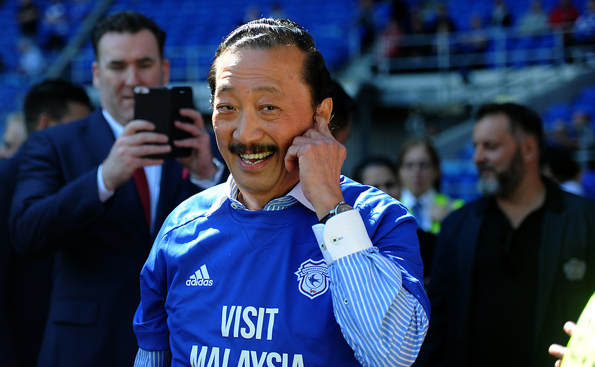 Cardiff City owner Vincent Tan<br /> <br /> Photographer Ashley Crowden/CameraSport<br /> <br /> The EFL Sky Bet Championship - Cardiff City v Aston Villa - Saturday August 12th 2017 - Cardiff City Stadium - Cardiff<br /> <br /> World Copyright &copy; 2017 CameraSport. All rights reserved. 43 Linden Ave. Countesthorpe. Leicester. England. LE8 5PG - Tel: +44 (0) 116 277 4147 - admin@camerasport.com - www.camerasport.com
