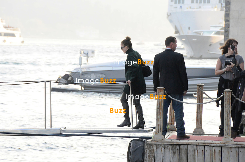 Jennifer Lopez went on a boat trip on the luxury yacht AGA-1 on the Bosphorus and then took her kids shopping at the shopping centre Akmerkez in the district of  Etiler, where she bought a pair of boots for 690 Turkish Lira (250 Euros). Istanbul - Turkey, November 17, 2012...