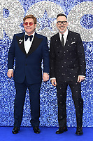 "Elton John and David Furnish<br /> arriving for the ""Rocketman"" premiere in Leicester Square, London<br /> <br /> ©Ash Knotek  D3502  20/05/2019"