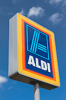 Aldi shop sign