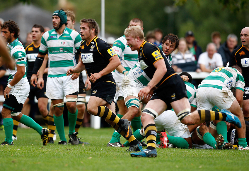 Photo:Richard Lane/ Richard Lane Photography. London Wasps v Treviso Rugby. Pre Season Friendly. 27/08/2011. Wasps' Nathan Morris (c).