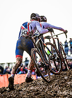 Picture by Alex Whitehead/SWpix.com - 04/02/2018 - Cycling - 2018 UCI Cyclo-Cross World Championships - Valkenburg, The Netherlands - Great Britain's Dan Tulett and Ben Turner in action during the Men's U23 race.