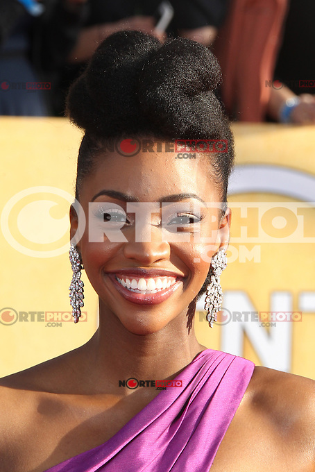 LOS ANGELES, CA - JANUARY 27: Teyonah Parris at The 19th Annual Screen Actors Guild Awards at the Los Angeles Shrine Exposition Center in Los Angeles, California. January 27, 2013. Credit: MediaPunch Inc. /NortePhoto