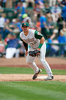 Fort Wayne TinCaps first baseman G.K. Young (15) during a game against the Wisconsin Timber Rattlers on May 10, 2017 at Parkview Field in Fort Wayne, Indiana.  Fort Wayne defeated Wisconsin 3-2.  (Mike Janes/Four Seam Images)