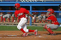August 2, 2009:  Outfielder D'Marcus Ingram of the Batavia Muckdogs during a game at Dwyer Stadium in Batavia, NY.  The Muckdogs are the Short-Season Class-A affiliate of the St. Louis Cardinals.  Photo By Mike Janes/Four Seam Images