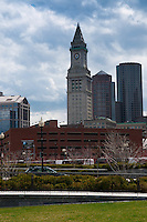 Rose Kennedy greenway with Marriott's Custom House, Boston, MA