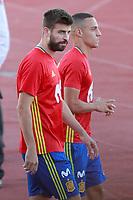 Spain's Gerard Pique (l) and Rodrigo Moreno during training session. October 2,2017.(ALTERPHOTOS/Acero)<br /> <br /> Foto Alterphotos / Insidefoto <br /> ITALY ONLY
