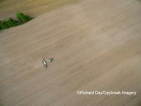63801-10008 Farmer planting corn-aerial Marion Co. IL