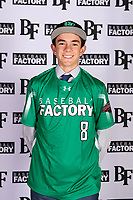 Max Manning (8) of Marin Catholic High School in Larkspur, California during the Baseball Factory All-America Pre-Season Tournament, powered by Under Armour, on January 12, 2018 at Sloan Park Complex in Mesa, Arizona.  (Mike Janes/Four Seam Images)