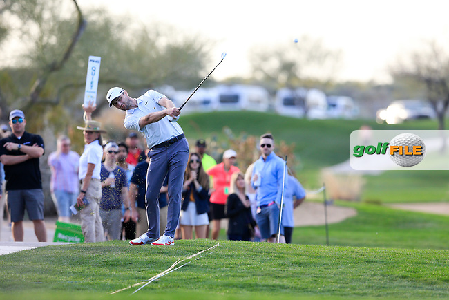 Kyle Stanley (USA) on the 15th fairway during the 2nd round of the Waste Management Phoenix Open, TPC Scottsdale, Scottsdale, Arisona, USA. 01/02/2019.<br /> Picture Fran Caffrey / Golffile.ie<br /> <br /> All photo usage must carry mandatory copyright credit (&copy; Golffile | Fran Caffrey)