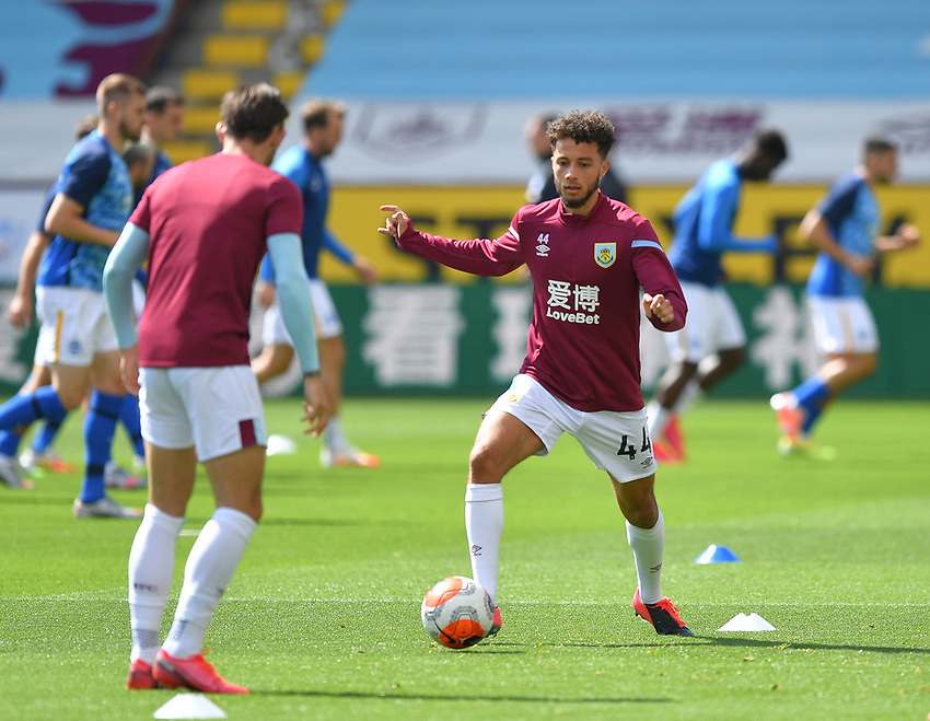 Burnley's Mace Goodridge warms up<br /> <br /> Photographer Dave Howarth/CameraSport<br /> <br /> The Premier League - Burnley v Brighton & Hove Albion - Sunday 26th July 2020 - Turf Moor - Burnley<br /> <br /> World Copyright © 2020 CameraSport. All rights reserved. 43 Linden Ave. Countesthorpe. Leicester. England. LE8 5PG - Tel: +44 (0) 116 277 4147 - admin@camerasport.com - www.camerasport.com