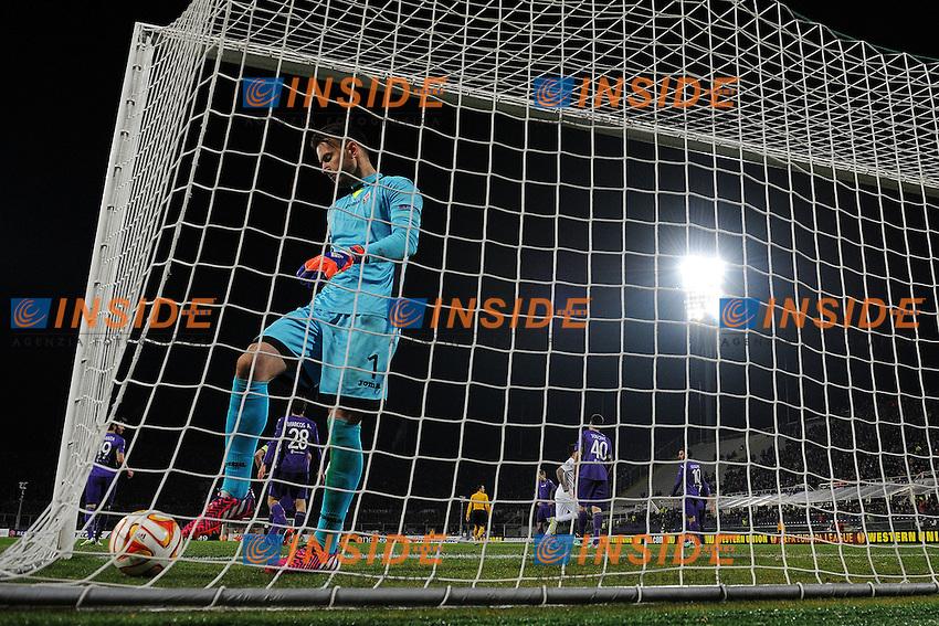 Delusione Neto Fiorentina Dejection <br /> Firenze 12-03-2015 Stadio Artemio Franchi Football Calcio Europa League Fiorentina - AS Roma . Foto Andrea Staccioli / Insidefoto