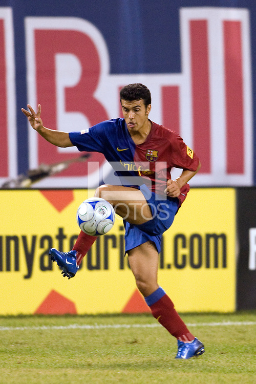 FC Barcelona forward Pedro Ramirez (27). FC Barcelona defeated the New York Red Bulls 6-2 during an international friendly at Giants Stadium in East Rutherford, NJ, on August 6, 2008.