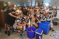Ealing Trailfinders players celebrate victory in the British & Irish Cup Final match between Ealing Trailfinders and Leinster Rugby at Castle Bar, West Ealing, England  on 12 May 2018. Photo by David Horn / PRiME Media Images.