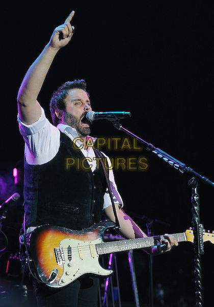 17 May 2014 - Burgettstown, PA - Country music artist RANDY HOUSER performs as opening act for Brad Paisley's &quot;Country Nation World Tour&quot; held at the First Niagara Pavilion.  <br /> CAP/ADM/JN<br /> &copy;Jason L Nelson/AdMedia/Capital Pictures
