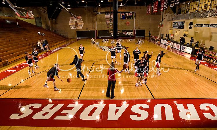 11/29/07 :  Photography of  Belmont Abbey Women's basketball team vs. Erskine, at Belmont Abbey College.PATRICK SCHNEIDER PHOTO.COM