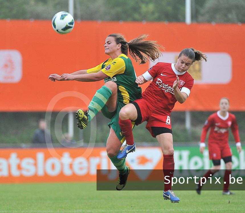 KNVB Beker Finale : ADO Den Haag - FC Twente : duel Kitty Susan (links) en Sherida Spitse (r)<br /> foto DAVID CATRY / Nikonpro.be