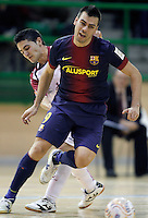 FC Barcelona Alusport's Sergio Lozano during Spanish National Futsal League match.November 24,2012. (ALTERPHOTOS/Acero) /NortePhoto