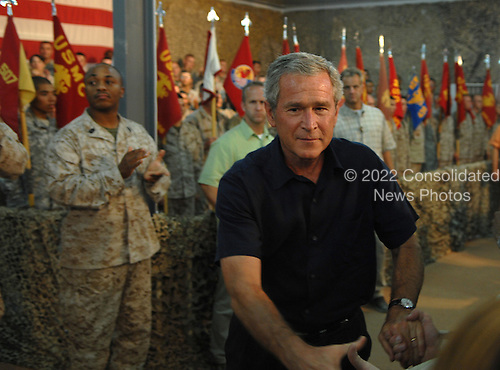 POTUS Al ASAD Iraq, Sept. 3, 2007.  Defense Dept. photo by U.S. Air Force Staff Sgt. D. Myles Cullen (released)