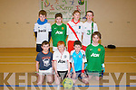 Pictured the Annascaul indoor soccer hall on Friday last were the under 13 Dingle Team who won gold on the day were l-r: Dylan Geaney, Seamus Boyle, Christopher Kane and Colm Moriarty. Back l-r: Eoin De Hóra, Sean Óg Moran, Dean Hillard and Eoin Brosnan.