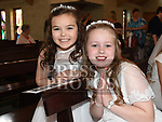 Eva Durbano and Katie McCartan from Donacarney school who recieved first holy communion in the Star of the Sea church Mornington. Photo:Colin Bell/pressphotos.ie