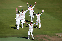 Jamie Porter and his Essex team mates appeal unsuccessfully for a wicket during Warwickshire CCC vs Essex CCC, Specsavers County Championship Division 1 Cricket at Edgbaston Stadium on 11th September 2019