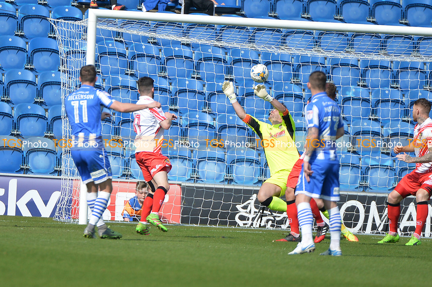 brennan dickenson scores the first goal during Colchester United vs Stevenage, Sky Bet EFL League 2 Football at the Weston Homes Community Stadium on 8th April 2017