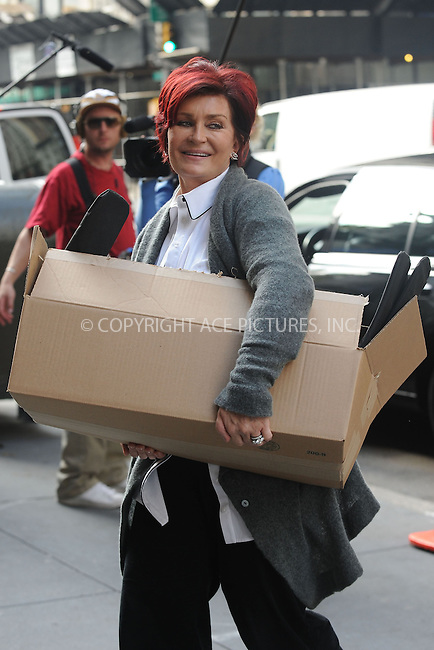 WWW.ACEPIXS.COM . . . . . ....October 21 2009, New York City....Sharon Osbourne was spotted taking part as a contestant on Donald Trump's 'Celebrity Apprentice' show in Chelsea on October 21 2009 in New York City....Please byline: KRISTIN CALLAHAN - ACEPIXS.COM.. . . . . . ..Ace Pictures, Inc:  ..tel: (212) 243 8787 or (646) 769 0430..e-mail: info@acepixs.com..web: http://www.acepixs.com