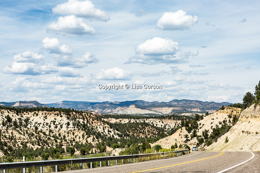 US Highway 89 near Mt Carmel, Utah and the eastern entrance to Zion National Park.