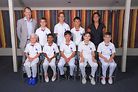 Tuis. Back row, from left: Scott Barker (Coach), Liam Struthers, Amelie Barker, Finn Barker, Maylin Yap (Manager); front row, Thomas Sadler, Shiv Patel, Alec Barker, Hunter Taylor, Liam Hendry. Eastern Suburbs Cricket Club Junior Team Photos at Kilbirnie Park in Wellington, New Zealand on Monday, 9 March 2020. Photo: Dave Lintott / lintottphoto.co.nz