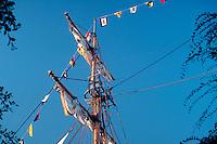 Tall Ship, Schooner, Main Mast, Disneyland, Ca, USA