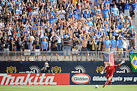 Philadelphia Union fans heckle New England Revolution goalkeeper Matt Reis (1). The Philadelphia Union and the New England Revolution  played to a 1-1 tie during a Major League Soccer (MLS) match at PPL Park in Chester, PA, on July 31, 2010.