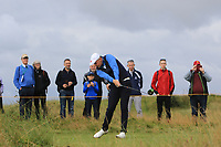 Harry Hall (GB&I) on the 5th tee during the Foursomes at the Walker Cup, Royal Liverpool Golf CLub, Hoylake, Cheshire, England. 07/09/2019.<br /> Picture Thos Caffrey / Golffile.ie<br /> <br /> All photo usage must carry mandatory copyright credit (© Golffile | Thos Caffrey)