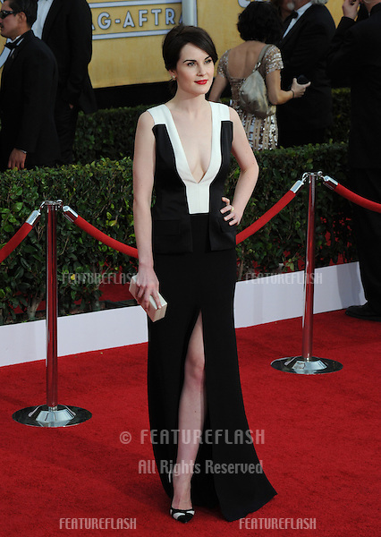 Michelle Dockery at the 20th Annual Screen Actors Guild Awards at the Shrine Auditorium.<br /> January 18, 2014  Los Angeles, CA<br /> Picture: Paul Smith / Featureflash
