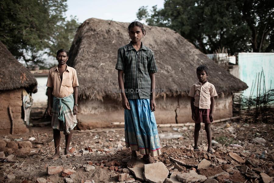 "TAMIL NADU, INDIA MARCH 2014:<br />Jayanthi 13 YEARS in her village ""VASKO VILANDOR"", she was sold by her father to work in the cotton fields near Salem, Tamil Nadu, 03, March 2014 @ GDS"