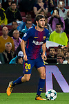Sergi Roberto Carnicer of FC Barcelona in action during the UEFA Champions League 2017-18 match between FC Barcelona and Olympiacos FC at Camp Nou on 18 October 2017 in Barcelona, Spain. Photo by Vicens Gimenez / Power Sport Images