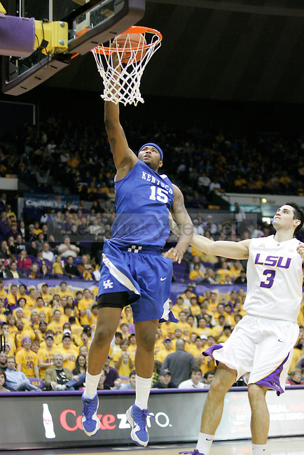 Freshman forward DeMarcus Cousins dunks against LSU at Pete Maravich Assembly Center on Saturday, Feb. 6, 2010. Photo by Scott Hannigan | Staff