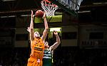 S&ouml;dert&auml;lje 2014-10-01 Basket Basketligan S&ouml;dert&auml;lje Kings - Norrk&ouml;ping Dolphins :  <br /> Norrk&ouml;ping Dolphins Joakim Kjellbom tar en retur i kamp om bollen med S&ouml;dert&auml;lje Kings Aaron Andersson <br /> (Foto: Kenta J&ouml;nsson) Nyckelord:  S&ouml;dert&auml;lje Kings SBBK T&auml;ljehallen Norrk&ouml;ping Dolphins