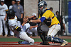 Rob Weissheir #12, Kellenberg catcher, right, tags out Justin Fucci #18 of St. Anthony's to end the bottom of the fifth inning in Game 2 of the CHSAA varsity baseball finals at Hofstra University on Sunday, May 31, 2016. Kellenberg went on to win 5-4 to sweep the best-of-three series and take the league championship.