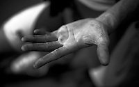 post-race hands<br /> <br /> 113th Paris-Roubaix 2015
