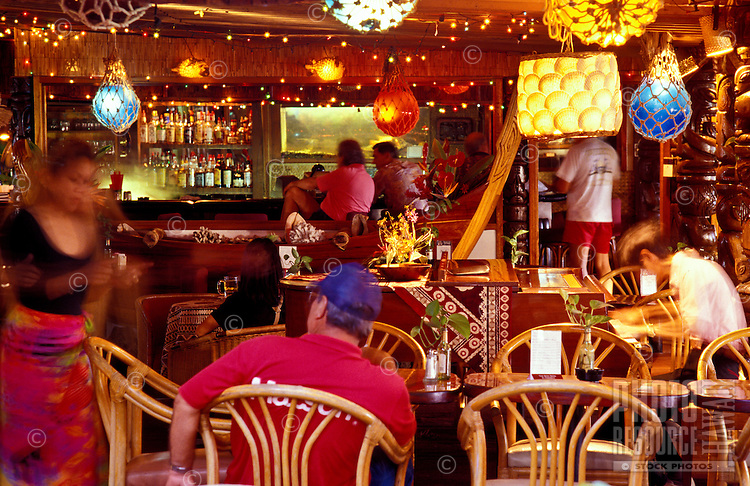 La Mariana Sailing Club, a colorful tiki restaurant and bar on Sand Island