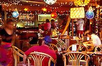 La Mariana Sailing Club, a colorful tiki restaurant and bar on Sand Island