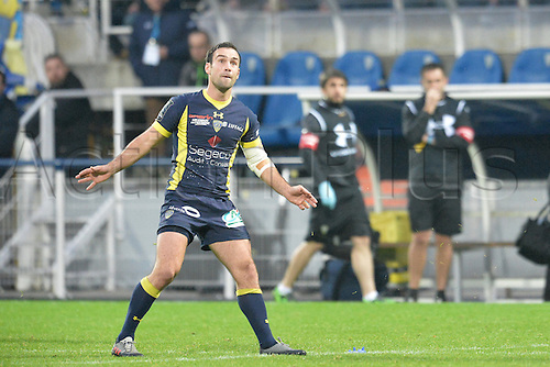 18.12.2016. Stade Marcel Michelin, Clermont-Ferrand, France. European Champions Cup Rugby. Clermont Auvergne versus Ulster.  Morgan Parra (asm)  watches his penalty kick as it heads for the posts