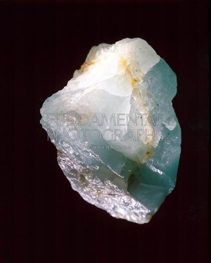 GREEN BERYL - Beryllium Aluminum Silicate<br /> Important Gem Mineral, Cyclosilicate Subclass<br /> Be3Al2Si6O18. Hexagonal crystal form.