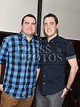 Shane Faulkner and Paul Herbert celebrating their engagement in Brú. Photo:Colin Bell/pressphotos.ie